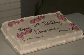 Happy 101st Birthday Vancouver cake