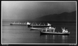 Anchorage [4 large ships anchored in harbour]