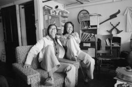 Tommy Kao and Kathy Wong at Pender Guy Radio office, 15 East Pender Street
