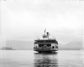 "[View of the rear of North Vancouver ferry ""St. George"" (later North Vancouver Ferry No..."