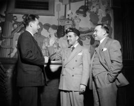 [Tony Olivera, figure skater, and his manager Joe Hermann with Jack Jenkins]