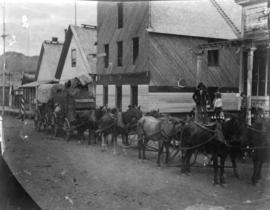 [Arrival of freight wagons from Ashcroft]