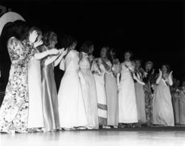 Brenda Hinds, Miss P.N.E. 1974 with other contestants