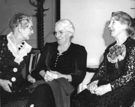 [Mrs. Hatch, Mrs. Mary Fair and Mrs. M. Primrose Rounding at a Vancouver Pioneer's Association ba...
