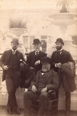 [George Grant Mackay, S.O. Richards, George Turner and Dr. Wetham in the Palace Hotel]
