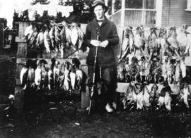 [Walter Lewis and a display of ducks]