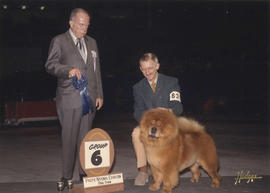 Group six [Non-Sporting Group: Chow Chow] award being presented at 1975 P.N.E. All-Breed Dog Show