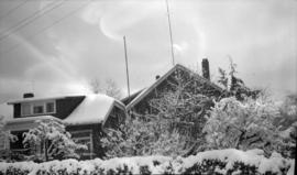 [View of Major Matthews' house at 1158 Arbutus Street on Jan. 26, 1954]