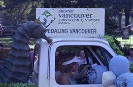 Greater Vancouver Convention and Visitors Bureau truck in Sea Festival Parade