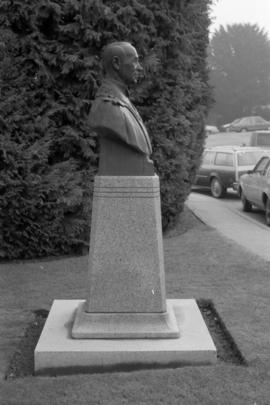Mayor G. G. McGeer memorial bust - side