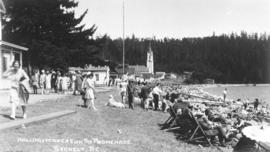 Holiday Makers on the Promenade - Sechelt, B.C.
