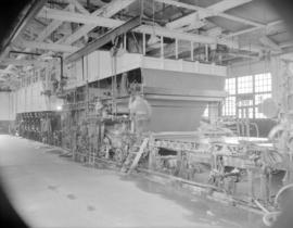 [Machinery at the Westminster Paper Company plant]