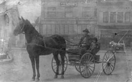 [A horse-drawn buggy in the 2300 Block of Westminster Avenue (Main Street)]