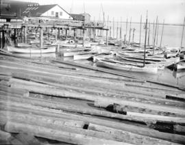 [Canoes at dock, Steveston]