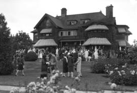 Garden Party [Major] Gen. [John] W. Stewart's home [1675 Angus Avenue]