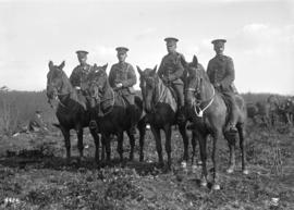 58th C.F.A. [Exhibition grounds] [4 soldiers on horseback]