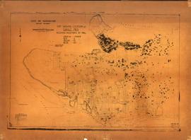 Map showing location of single men receiving assistance by mail
