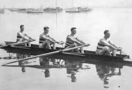 [A four-oared crew from Vancouver Rowing Club]