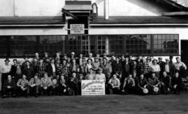 Group of workers at planer mill