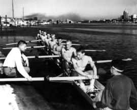 Vancouver Rowing Club - rowing float in front of clubhouse