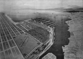 Bird's Eye View - Vancouver Harbour B.C.  Proposed Kitsilano Terminal and Free Port