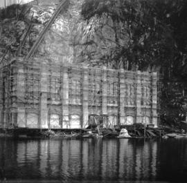 [Partially constructed power house building for Buntzen Lake Power Plant number two]