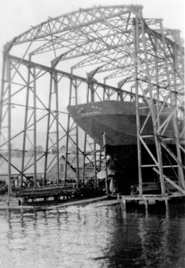 "[Launching of the S.S. ""War Dog"" from Wallace Shipyards]"