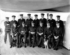 "[Group portrait of Officers on board the H.M.C.S. ""Rainbow""]"