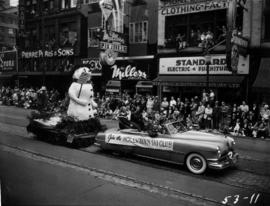 Hollyburn Ski Club float in 1953 P.N.E. Opening Day Parade