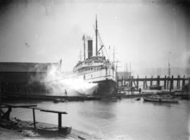 "[The ferry ""City of  Seattle"", after crashing through Evans, Coleman, and Evans dock]"