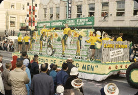 48th Grey Cup Parade, on Georgia and Howe, Edmonton Eskimos float
