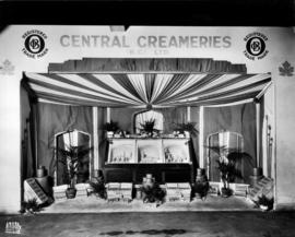 Central Creameries display of butter carvings and dairy products
