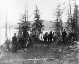 [Port Moody logging camp]