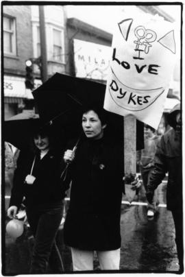 Dykes on the Drive' march during international lesbian week 1992