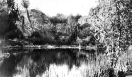 West Coast trip [with Sherwood Lett, Arthur Lord, W.O. Banfield] : The pond in the Sunken Garden ...