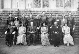 Their Excellencies [Governor General Lord Willingdon and Lady Willingdon] and staff, Simla 1931