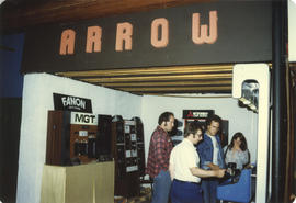 Arrow audio equipment display booth