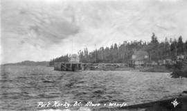 Port Hardy, B.C. Store and Wharf
