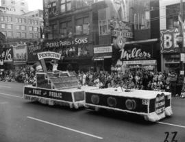 City of Penticton float in 1955 P.N.E. Opening day Parade