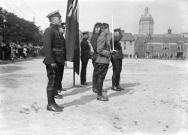 Military 72nd [Regiment inspecting group of officers at Inspection parade]