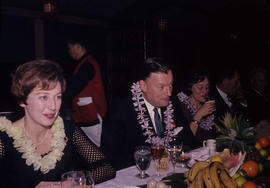 Inauguration dinner [at Trader Vic's], Mayor [Rathie] and Mrs. Gould