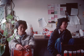 Clarence Sihoe and Keeman Wong at Pender Guy office