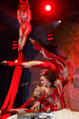 Acrobats at the Maple Ridge Torch Relay Celebration [2 of 2]