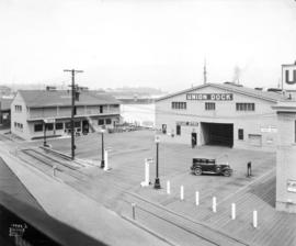 [Union Dock showing the freight office and baggage room building]