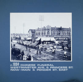Chinese funeral, Westminster Ave. at Princess St., now Main and Pender St. east