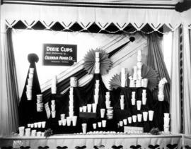 Columbia Paper Co. display of paper cups