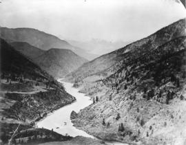 [View of the Thompson River east of Lytton]