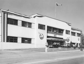 [Exterior view of the bus depot,150 Dunsmuir Street]
