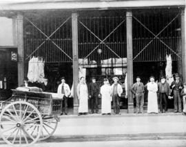 [Exterior of W.A. McIntosh Co. Ltd. butcher shop 36 Cordova St.]