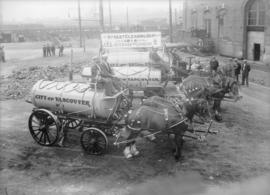 [Labour Day Parade: Street Cleaning Dept. 1914 10 Years Progress]